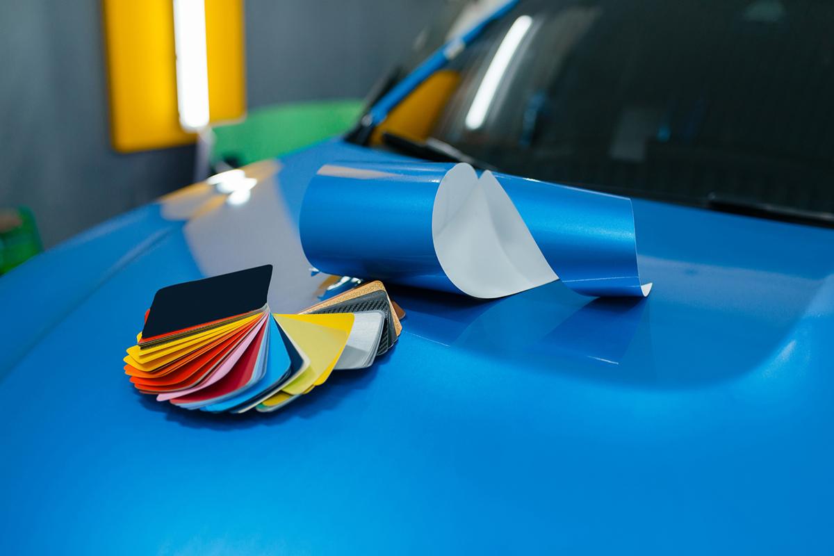 Farbauswahl der Fahrzeugfolierung
