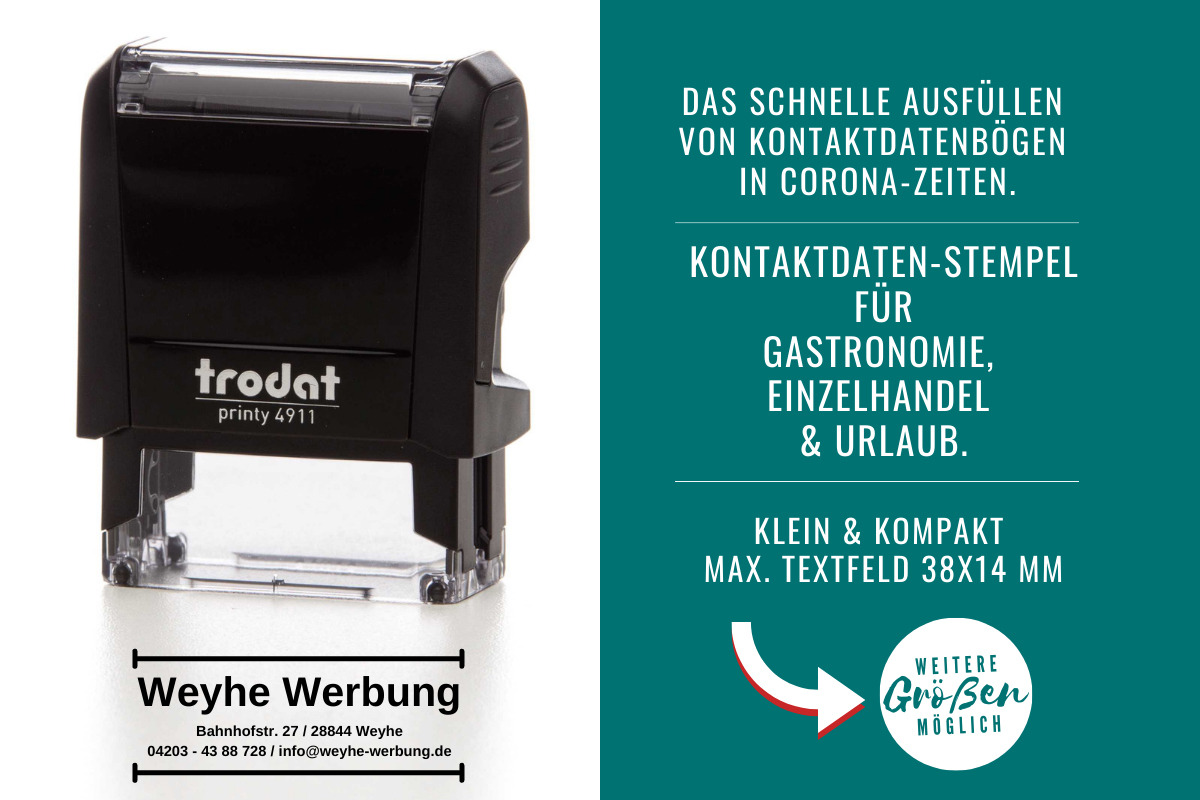 Kontaktdatenstempel_Weyhe_Werbung